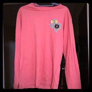 Baylor bears dark coral long sleeve shirt medium
